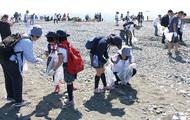 梅沢海岸を一斉清掃