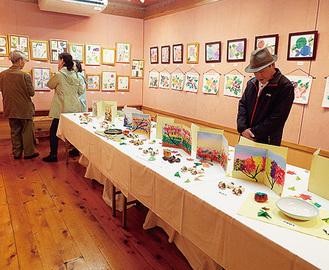 絵画や陶芸などを展示