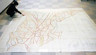 3.6m×4.3mサイズの大絵図