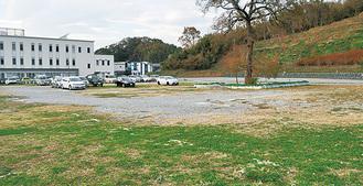 新庁舎建設予定地の町営第一駐車場