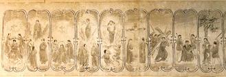 「ご聖体の連祷と黙想の図」の「栄光の玄義」の部分=澤田美喜記念館提供