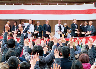 六所神社で催された節分祭