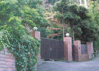 大磯別邸の門