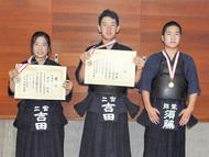 3選手に県大会メダル