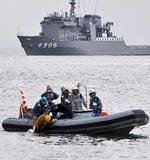 大磯港で津波対策訓練