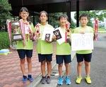 自転車大会で優勝した中井町のチーム