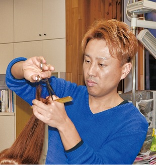 県優良衛生技能者表彰を受けた籾山さん