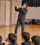 生徒に語る岩倉社長