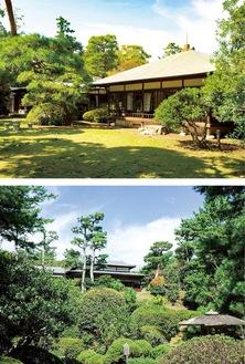 旧大隈重信別邸(上写真)と陸奥宗光別邸跡(国営昭和記念公園事務所提供)