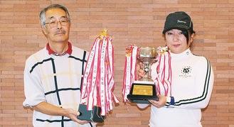 男子シニアで優勝した野寺さんと女子の部の柳田さん