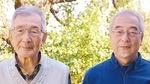 二宮野鳥の会メンバーの石川さん(右)と同会顧問の斎木さん