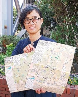 オダギリさんと里山歩きマップ