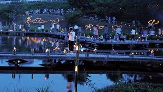 2019年度の竹灯篭の夕べの様子