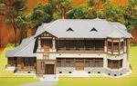 郷土資料館にある旧三井守之助別荘の模型