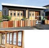園舎に旧三井別荘の建材