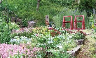 参加店舗や個人の庭を観賞できる