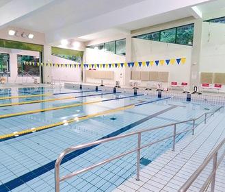 7月1日から再開した町民温水プール(二宮町提供)