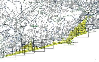 大磯町の津波災害警戒区域