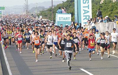 湘南地域最大のフルマラソン