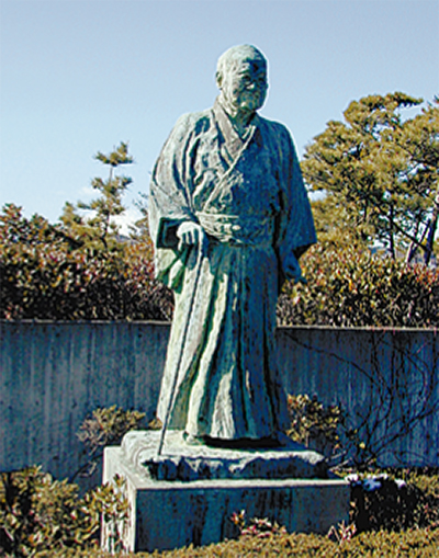 大磯の吉田茂像と講和条約