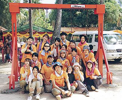 カンボジアにブランコ