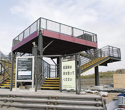 大磯港に津波避難タワー