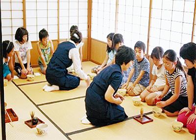 夏休みに茶道体験