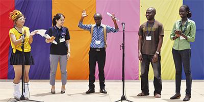 アフリカ留学生が訪問