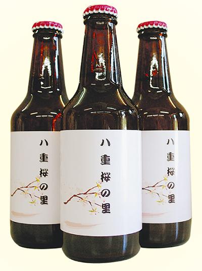八重桜で発泡酒
