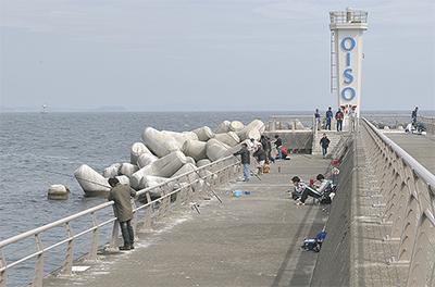 西堤防を部分開放