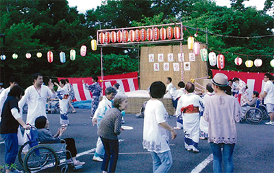 老健施設で恒例の夏祭り