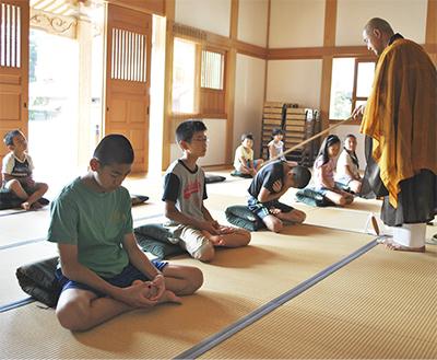 楊谷寺(ようこくじ)で恒例の座禅体験