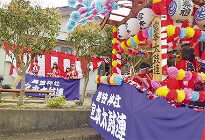 蓑笠神社で例大祭