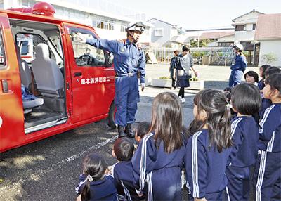 幼稚園児が防火学ぶ