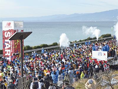 湘南国際マラソン 2万4千人 号砲待つ