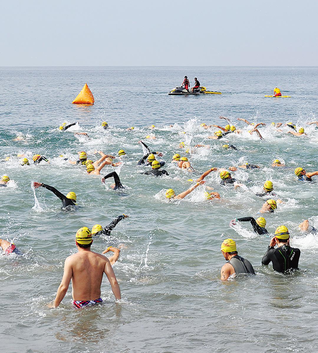 照ヶ崎で泳力競う