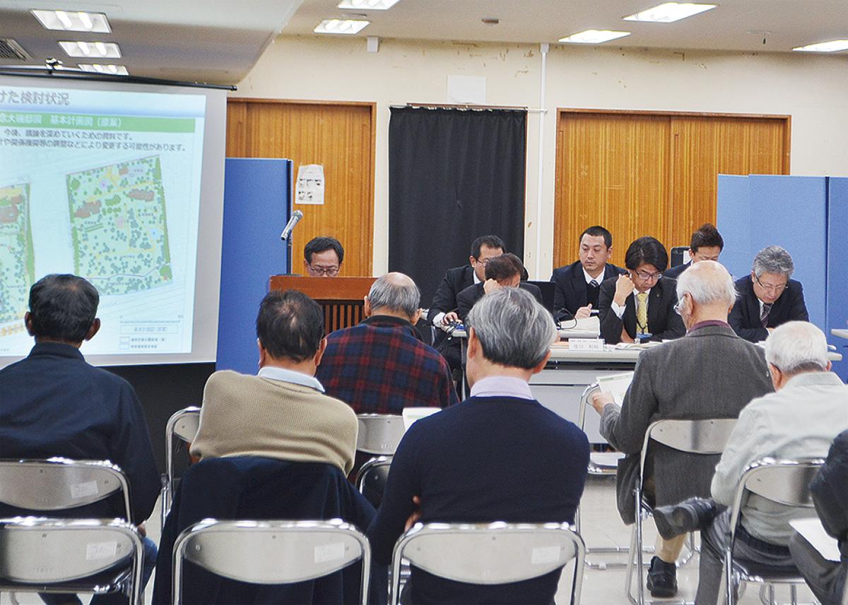 都市計画案を説明