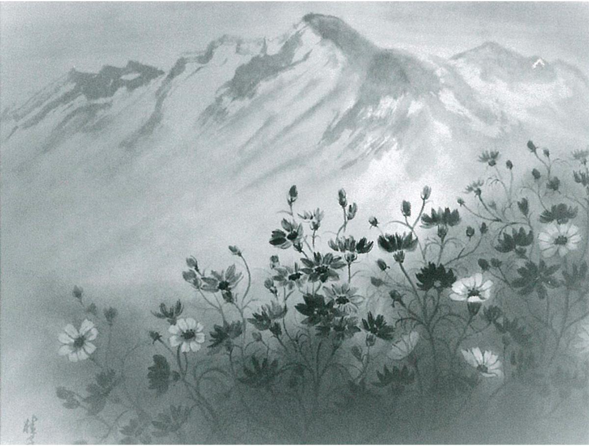 白黒で表す花鳥風月