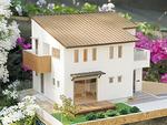 シンプルモダンの一軒家(完成イメージ模型)
