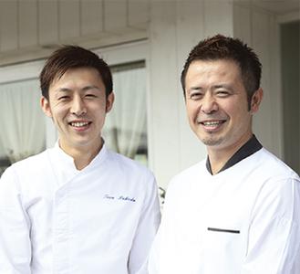 依田オーナーシェフ(右)と同店 福田達シェフ