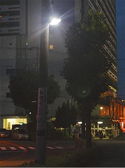 LED化されている防犯灯