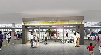駅側入口のイメージ