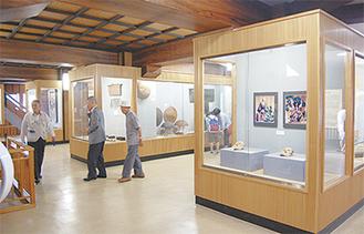 展示スペースには耐震壁が設置される