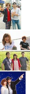 (写真上から)ゴメスマZ、E-BLUE、横須賀★DECICA、TOPLESS
