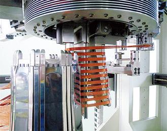 特許を取得した代表的なHVモーター用巻線設備