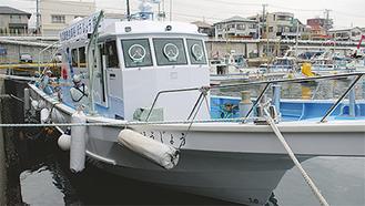 小田原港に停泊する「ほうじょう」