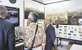 パネルや写真で小田原の歴史を紹介