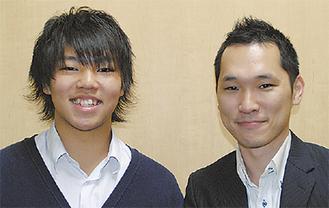 関田君と担任の猪股先生