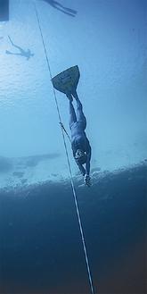水深90m以上潜る岡本さん