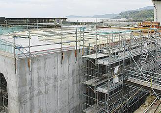 工事が進む漁港整備